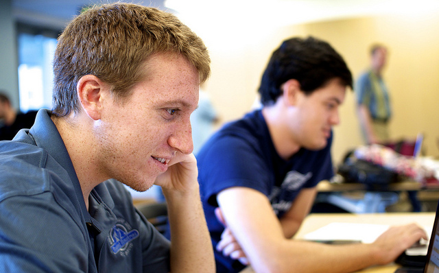 UC Merced students in class