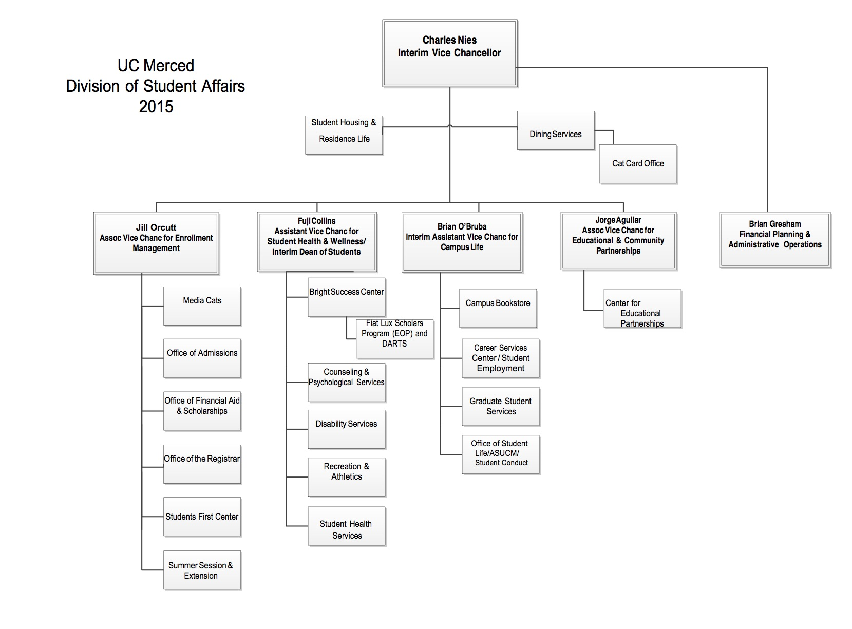 Organizational Chart Student Affairs
